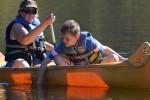 a quiet canoe