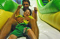 inflatable world slide