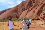 walking around the base of Uluru