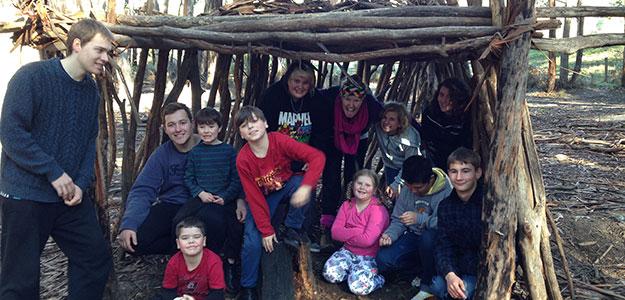 bush hut building