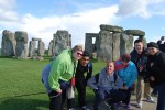group shot at Stonehenge