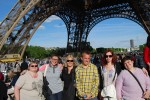 group shot under Eiffel Tower