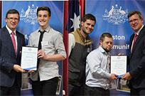receiving Aston awards
