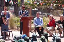 Matt making a speech at opening