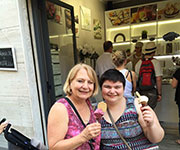 gelato for Nadia & Monnie