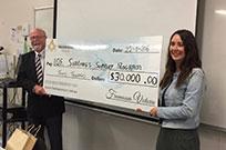 Freemasons $30000 donation to siblings