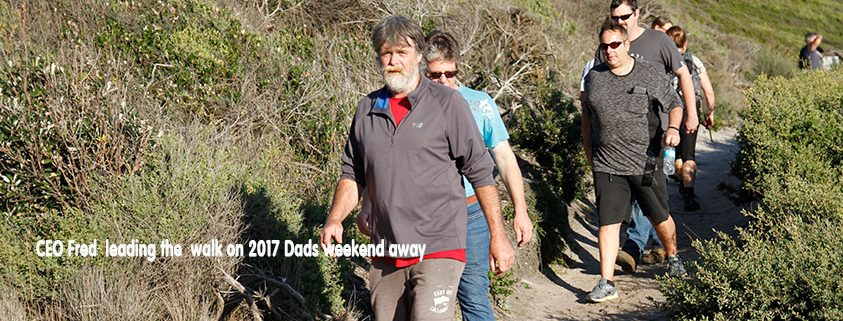 Fred leading the Dads on 2017 weekend away