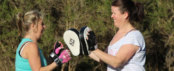 Inverloch Carers retreat boxing session