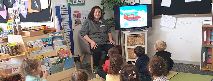 Volunteering at early learning centre